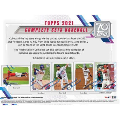 2021 Topps Factory Set Baseball Hobby doboz