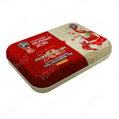 2018 Panini FIFA World Cup Russia Adrenalyn XL mini fémdoboz - Angol kiadás