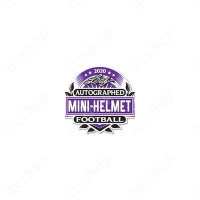 2020 Leaf Autographed Football Mini-Helmet Edition Hobby doboz