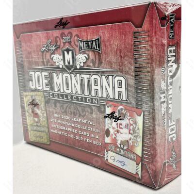 2020 Leaf Metal Joe Montana Collection Football Hobby doboz