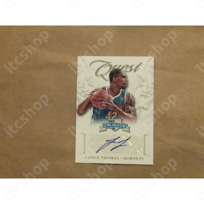 2012-13 Panini Crusade Quest Autographs #23 Lance Thomas