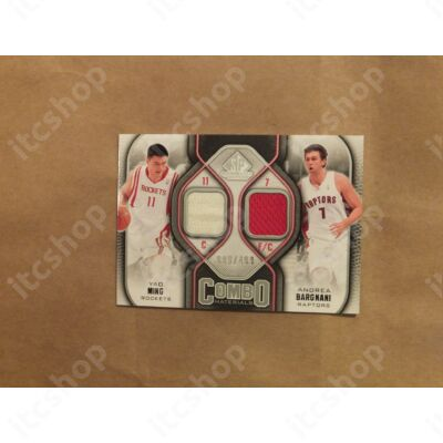 2009-10 SP Game Used Combo Materials #CMBM Andrea Bargnani/Yao Ming