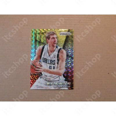 2014-15 Panini Prizm Prizms Yellow and Red Mosaic #121 Dirk Nowitzki