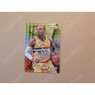 2014-15 Panini Prizm Prizms Yellow and Red Mosaic #2 Randy Foye