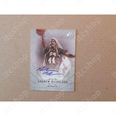 2012-13 SP Authentic Autographs #26 Andrew Nicholson C