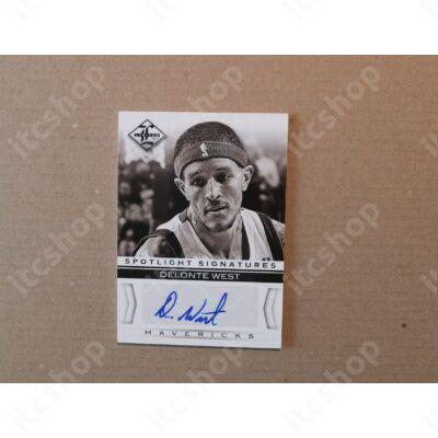 2012-13 Limited Spotlight Signatures #16 Delonte West/99