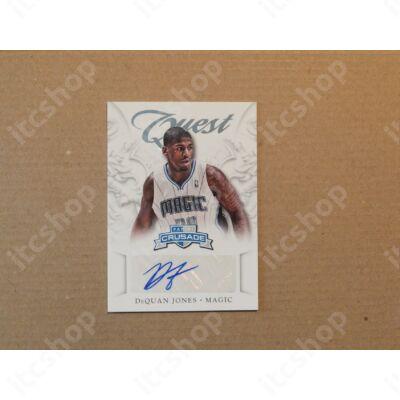 2012-13 Panini Crusade Quest Autographs #49 DeQuan Jones