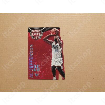 2014-15 Totally Certified Platinum Mirror Red Die Cuts #6 Al Jefferson