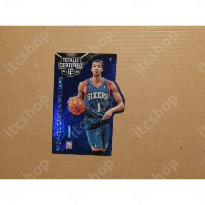 2014-15 Totally Certified Platinum Mirror Blue Die Cuts #54 Michael Carter-Williams