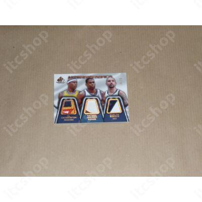 2007-08 SP Game Used Authentic Fabrics Triple Patch #HJB Al Harrington/Antawn Jamison/Carlos Boozer