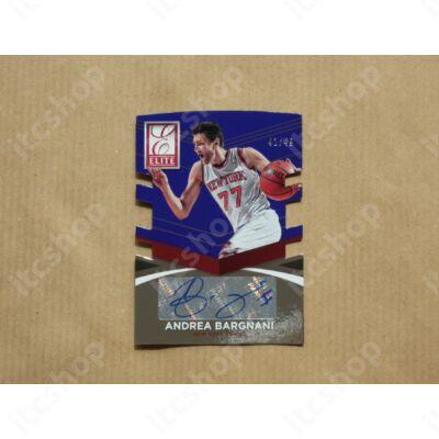 2014-15 Elite Status Signatures Blue #69 Andrea Bargnani