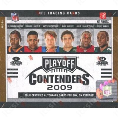 2009 Playoff Contenders Football Hobby Doboz NFL