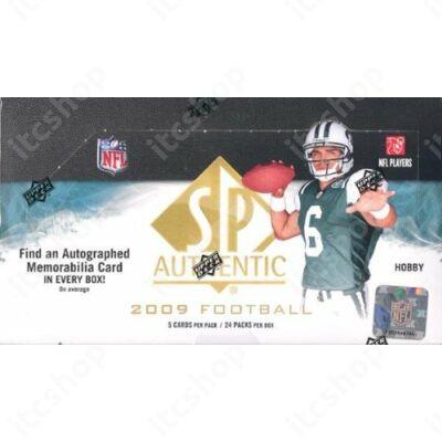 2009 Upper Deck SP Authentic Football Hobby doboz NFL