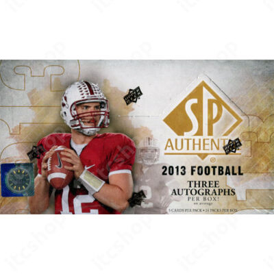 2013 Upper Deck SP Authentic Football Hobby doboz