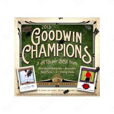 2013 Upper Deck Goodwin Champions Hobby doboz