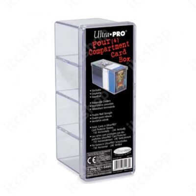 Ultra Pro 4 részes tároló doboz 150-240db kártya számára - Átlátszó