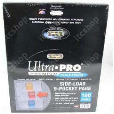 Ultra Pro Platinum 9 zsebes, 3 lyukas oldaltöltésű lap (100 lap)