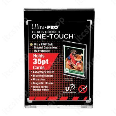 Ultra Pro UV One Touch mágneses tok 35pt - Fekete kerettel