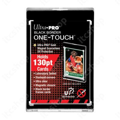 Ultra Pro UV One Touch mágneses tok 130pt - Fekete kerettel