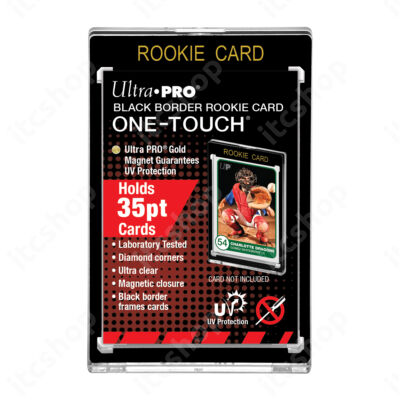 Ultra Pro UV One Touch mágneses tok 35pt ROOKIE - Fekete kerettel