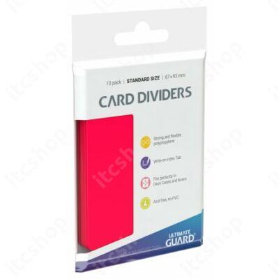 Ultimate Guard kártyaelválasztó (10db) - Piros