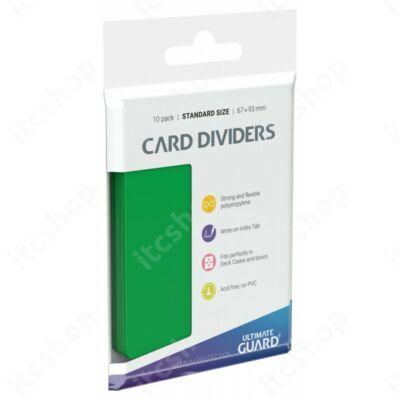 Ultimate Guard kártyaelválasztó (10db) - Zöld