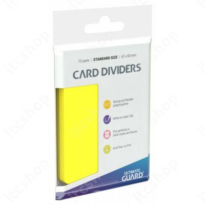 Ultimate Guard kártyaelválasztó (10db) - Sárga