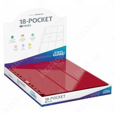Ultimate Guard 18-zsebes oldaltöltésű lap (50db) - Piros (900db kártya számára)