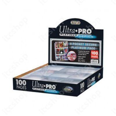Ultra Pro Secure Platinum 9 zsebes, 3 lyukas mappalap (100 lap)